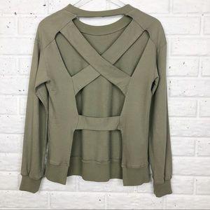 ILLA ILLA crewneck sweatshirt open strap back